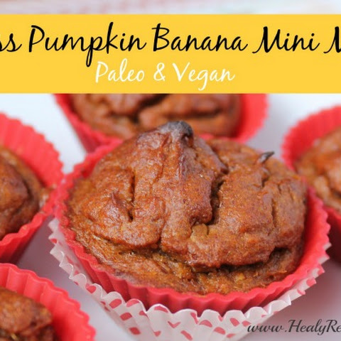 Pumpkin Banana Mini Flourless Muffins