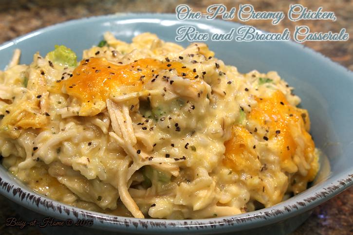 One-Pot Creamy Chicken, Broccoli and Rice Casserole Recipe | Yummly