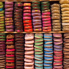 by _ Aronax _ - Artistic Objects Clothing & Accessories ( arabic, fashion, moroccanobjects, african, clothing, footwear, north, travel, homemade, morocco, slippers, slipper, style, cityrepeated, backgroundstall, casual, colored, indigenous, africa, fabric, shoe, leather, businesscolorful, comfortablemarrakesh, shoes, ethnic, texture, souk, handmade, sandal, traditional, sale, storemedina, market, pattern, fashionable, color, shopping, group, bazaar, culture, repetition )
