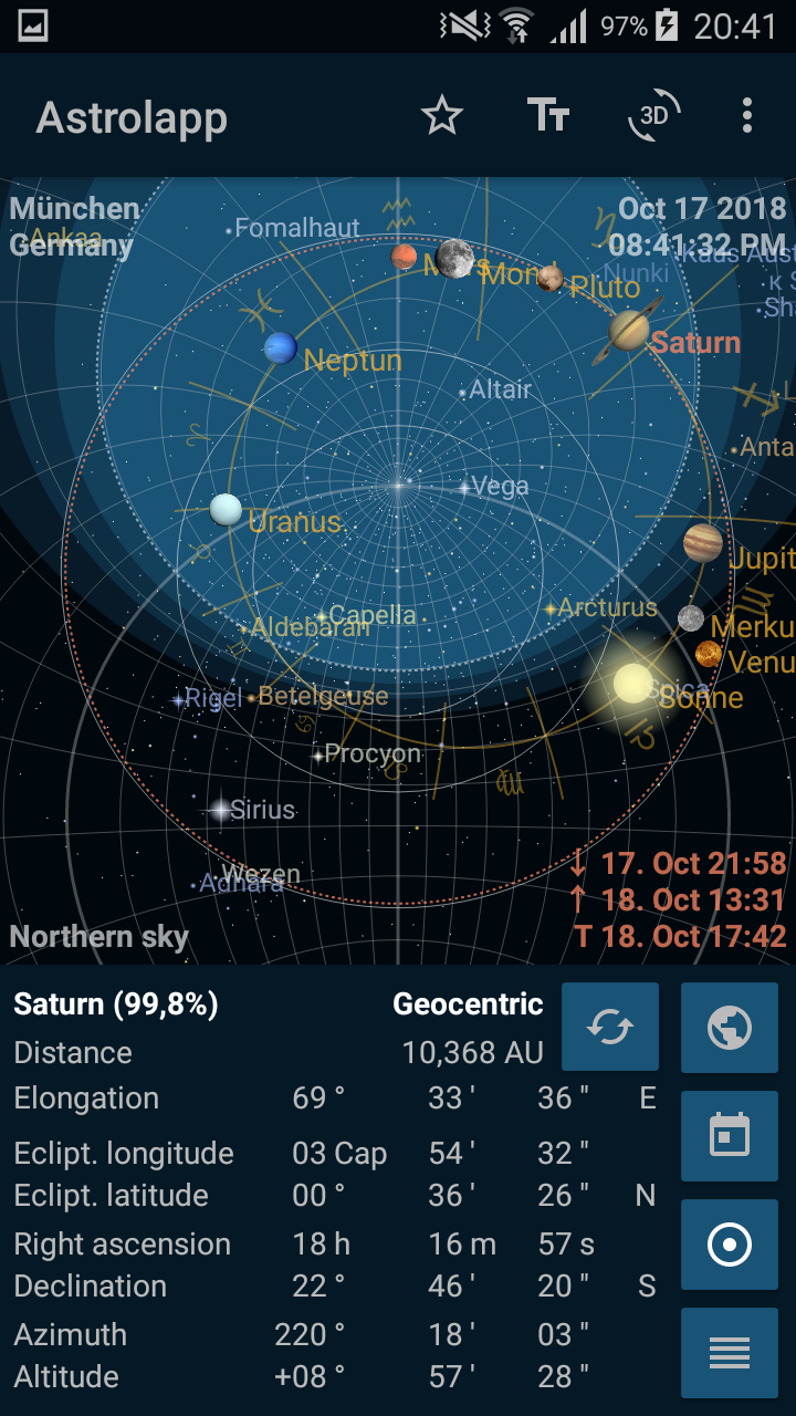 Astrolapp Live Planets and Sky Map Screenshot 3
