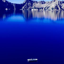 Small . . . Big by Richard Michael Lingo - City,  Street & Park  Vistas ( vistas, oregon, crater lake, parks, national parks )