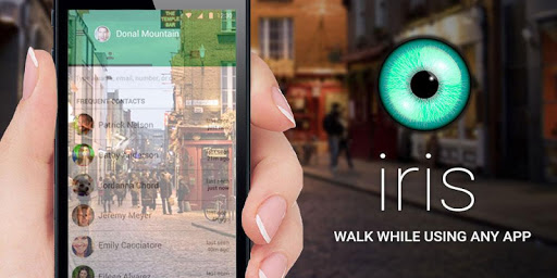 Iris: Walk While Using Any App Screenshot