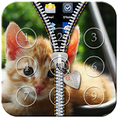 Free Download Kitty Cat Zipper Lock APK for Samsung