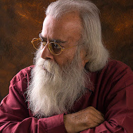 The Philosopher.. by Rakesh Syal - People Portraits of Men