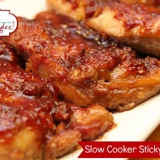 Sticky Slow Cooker Chicken