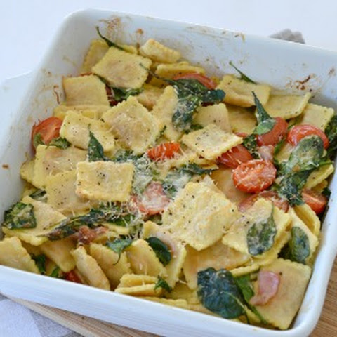 Creamy Spinach and Bacon Pasta Bake