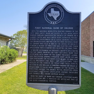 Until the industrial revolution reached Orange in the late 1880s, most banking needs in the area were handled through Galveston.The growth of Orange as a lumber center and deep water port, however, ...