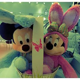 Disney Bunny Basket by Cheryl Beaudoin - Public Holidays Easter ( pastel, easter, bunny, basket, bunnies, disney )
