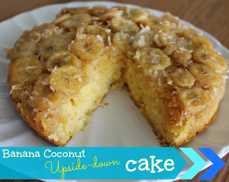 ... banana coffee cake with coconut pecan frosting upside down banana