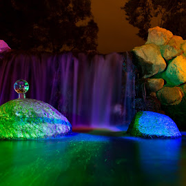 purple falls by Adrian Ramirez - Abstract Light Painting ( ball, mystical, crystal ball, orb, color, colorful, waterscape, long exposure )