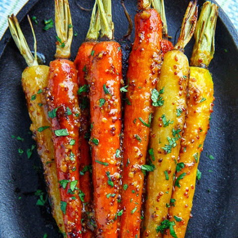 Maple Dijon Roasted Carrots