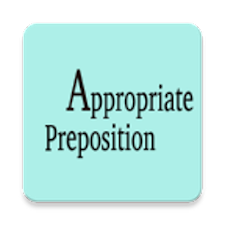 Appropriate preposition