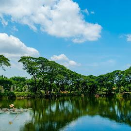 Kebun Bibit Wonorejo Surabaya by Randy Yusuf Pratama Putra - City,  Street & Park  City Parks ( citypark, water, sky, park, indonesia, surabaya )