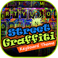 Colorful street keyboard theme