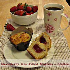Strawberry Jam Filled Muffins