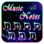 Music Notes Keyboard Theme Icon