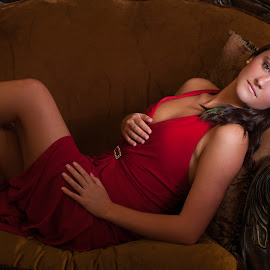 Elusive by Myra Brizendine Wilson - People Fashion ( model, red, female, red shoes, red dress, fashion model, female model )