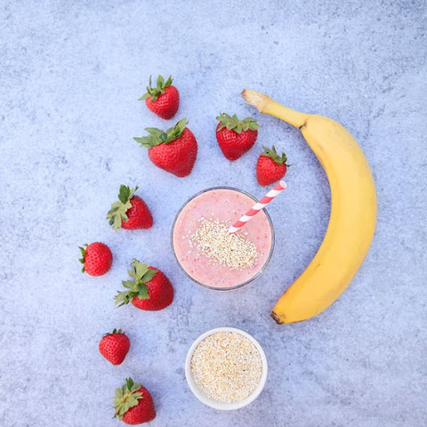 Strawberry Banana Amaranth Smoothie