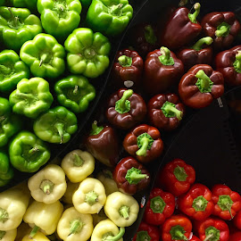 Four Colored Peppers! by Lope Piamonte Jr - Food & Drink Fruits & Vegetables