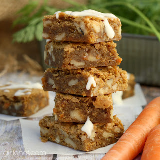Carrot Cake Blondies (Boozy, or not)