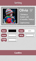 Screenshot of Baby birth calculation widget