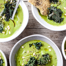 Roasted Cauliflower & Kale Soup