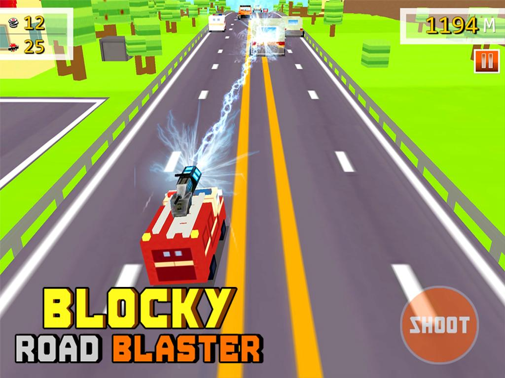 Blocky Road Blaster -Wild Race Screenshot 11