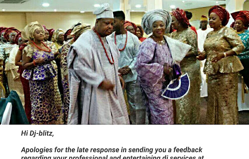 PRINCE AND PRINCESS OLADEHINDE'S FEEDBACK