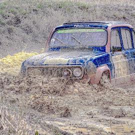 Splash !  by Pat Oche - Sports & Fitness Motorsports ( car, renault, motorsport, french car, trial, 4l )