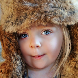 Poppy's Fur Hat by Cheryl Korotky - Babies & Children Child Portraits (  )