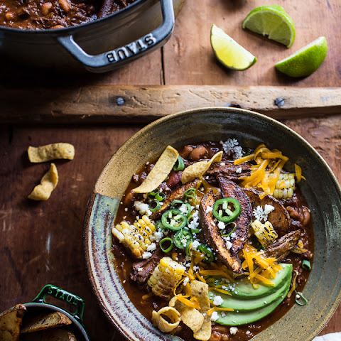 Crockpot Carne Asada Beer Chili.