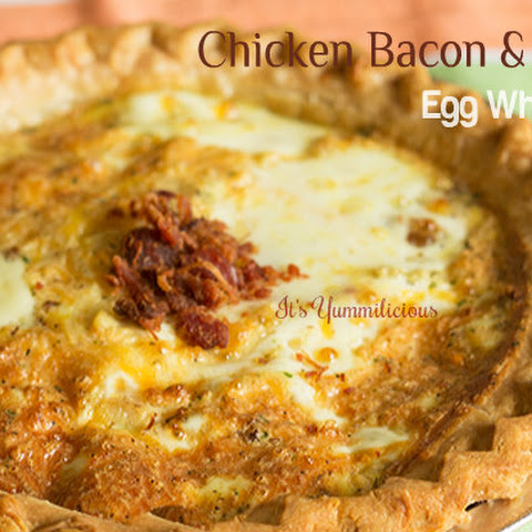 Chicken, Bacon, & Cheese Egg White Quiche