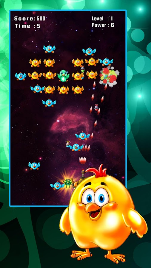 Chicken Shooter: Space Defense Screenshot