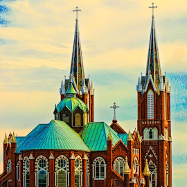 Come Worship With Me by Keith-Lisa Bell Bell - Buildings & Architecture Places of Worship ( building, steeple, church, architecture, digital photography )