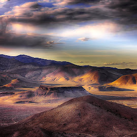 Moon scape by Lee Molof - Landscapes Deserts