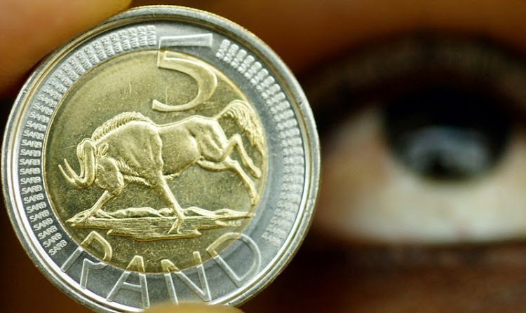 A five rand coin. Picture: REUTERS