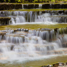 Cascades by Eugene Linzy - Nature Up Close Water ( water, waterfalls, creek, cascades, rocks )