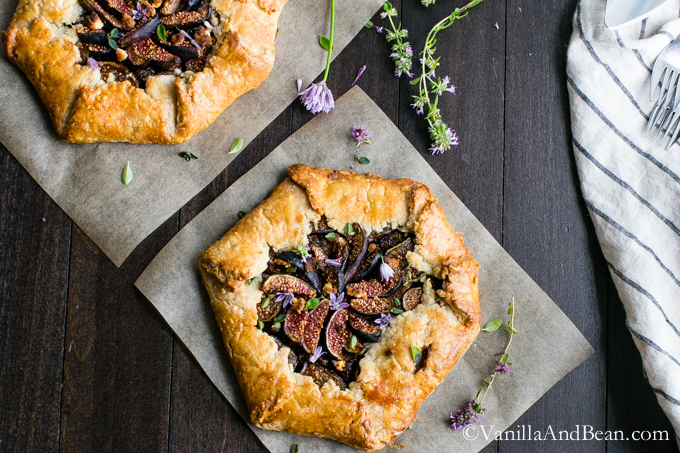 Caramelized Onion and Fig Galette with Goat Cheese Recipe | Yummly