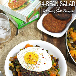 Curried 4 Bean Salad With MorningStar Burgers