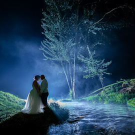 River by Lood Goosen (LWG Photo) - Wedding Bride & Groom ( wedding photography, wedding photographers, husband wife, love, wedding, weddings, wedding day, couple, bride and groom, wedding photographer, bride, groom, mist, river, bride groom )