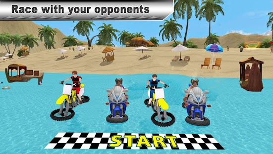 Water Surfing Bike Race for pc