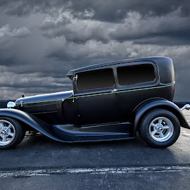 bonnie & clyde by Kirk Kimble - Transportation Automobiles ( car, vintage, automobile, hot rod, black )