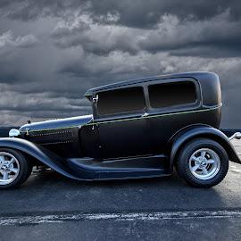 bonnie & clyde by Kirk Kimble - Transportation Automobiles ( car, vintage, automobile, hot rod, black )