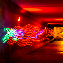 Light Painting by Tina Hailey - Abstract Light Painting ( abstract, light painting, tina's captured moments, tunnel )