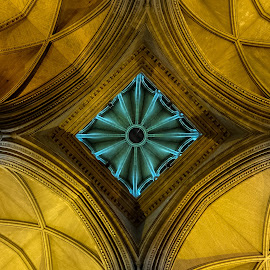 Truro Cathedral by Mitch Featherbe - Buildings & Architecture Architectural Detail ( colour, cathedral, architecture, truro, looking up )