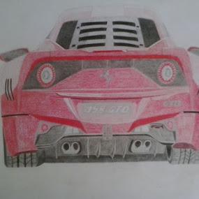 Ferrari by Reagan Muriuki - Drawing All Drawing