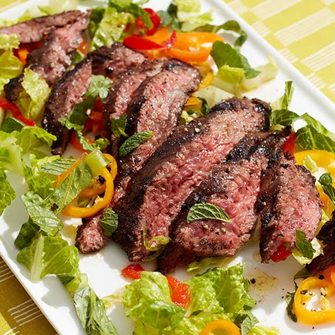 Coffee-and-Chili-Rubbed Skirt Steak Salad