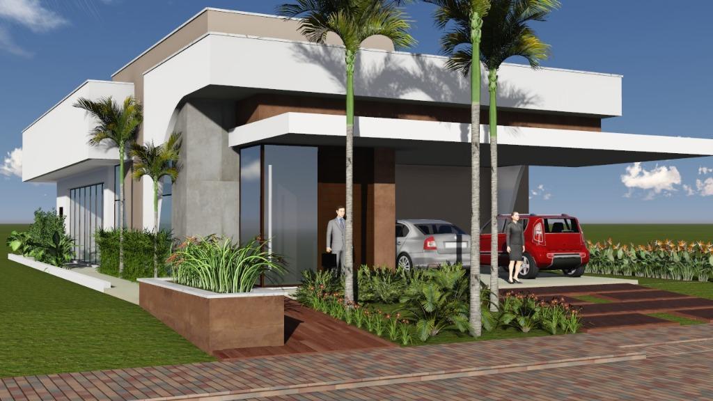 Casa 3 Suítes, 211 m² c/ lazer no Condomínio Mirante do Lago