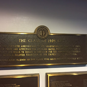 THE CLASS OF 1928 GIFT  ON THE FIFTIETH ANNIVERSARY OF ITS GRADUATION, THE CLASS OF 1928,  WITH PRIDE AND AFFECTION FOR ITS ALMA MATER, PRESENTED THIS GIFT OF THIRTY SIX BELLS TO CREATE A CARILLON ...