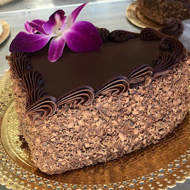 Chocolate Heart Cake by Lope Piamonte Jr - Food & Drink Cooking & Baking